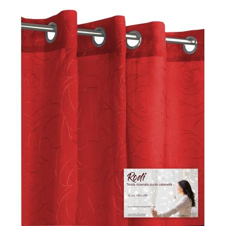 TENDA tendaggio RODI rosso CM. 140X290 CONFEZIONATA