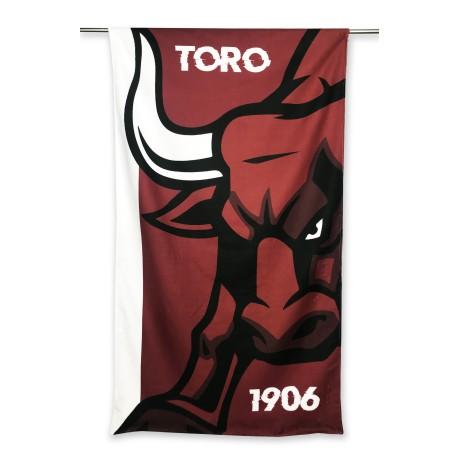 TELO MARE in spugna TORO 1906 misura grande cm. 90 X 170 e cartolina TORINO È STATA e resterà GRANATA
