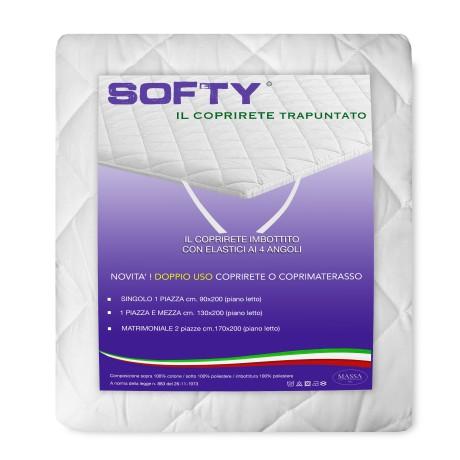 COPRIRETE TRAPUNTATO SOFTY © in cotone DOPPIO uso COPRIMATERASSO