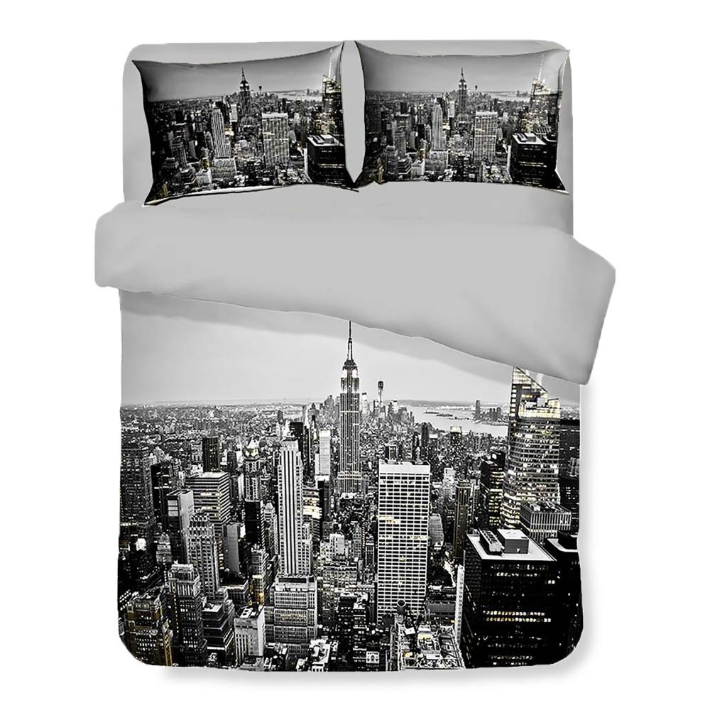 COPRIPIUMINO Rasatello HD FOTOGRAFICO grattacieli New York