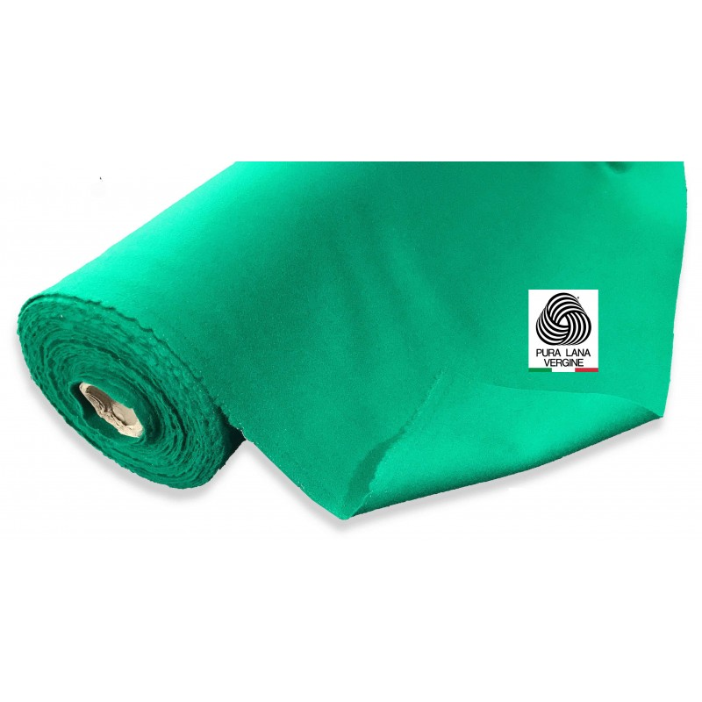 mollettone verde pura lana