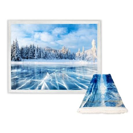 Plaid polaire SHERPA Fantasy HD Ice Lake