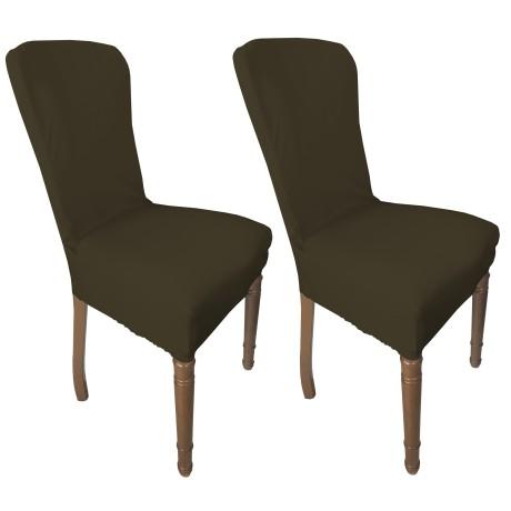 couverture de siège brun complet