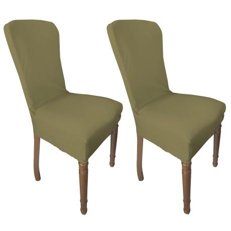 couverture de siège extensible beige foncé