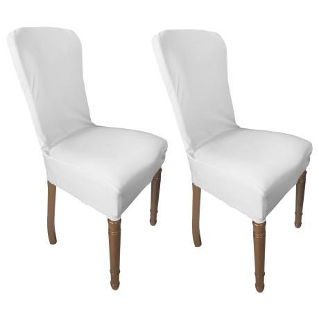 couverture blanche de siège extensible