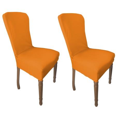 couverture orange de siège extensible