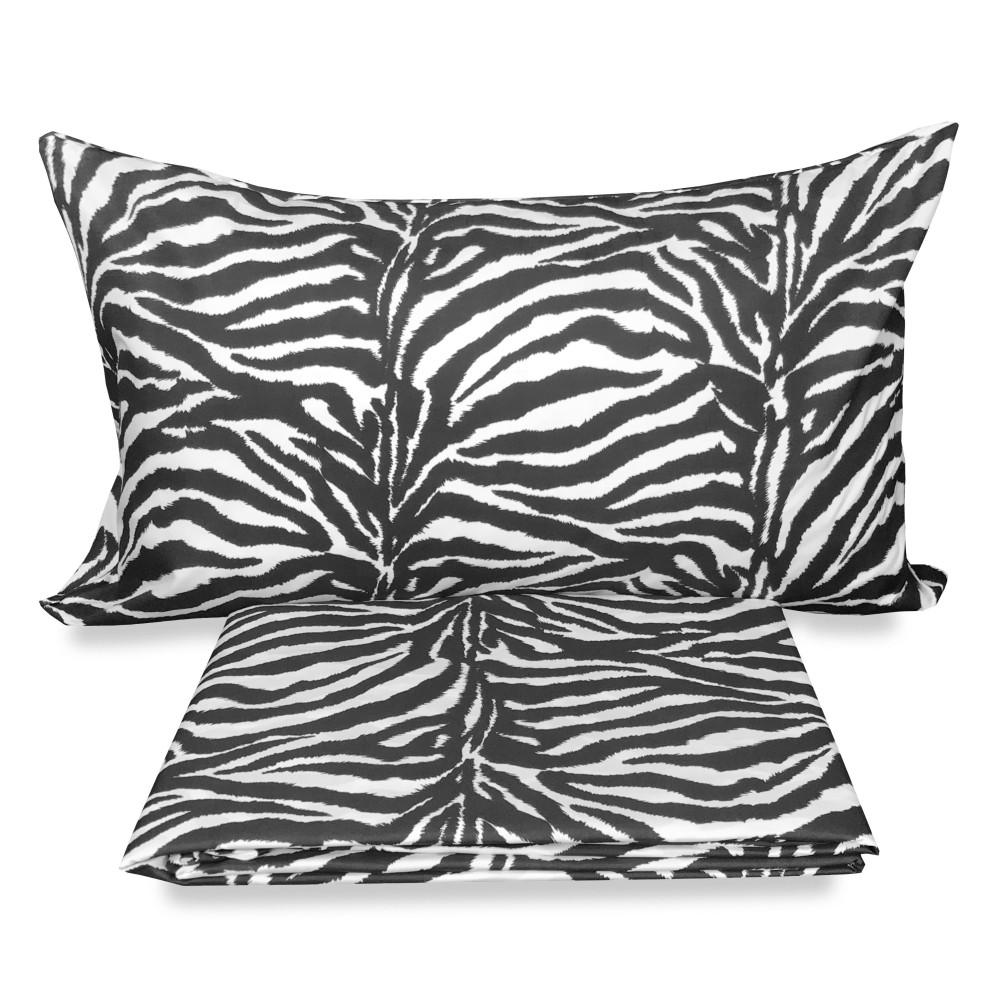 COPRIPIUMINO in flanella ZEBRA zebrato con cuscino ARREDO