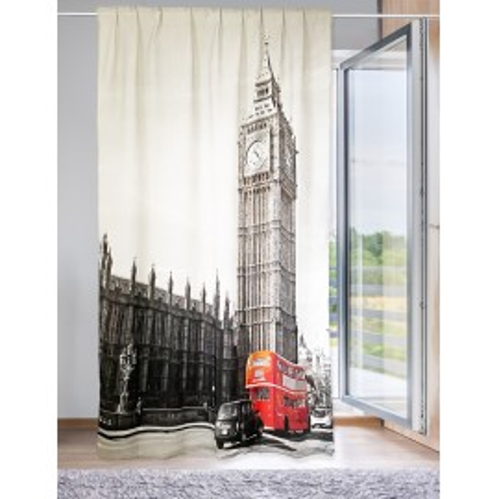 TENDA LONDRA inglese BUS cm.160X240 confezionata MADE in ITALY misto lino
