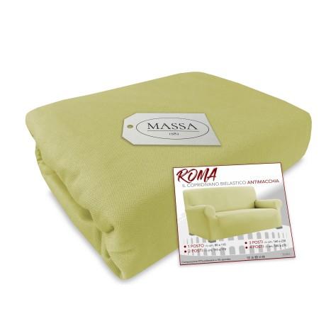 Housse de canapé universelle élastiquée et résistante aux taches ROMA BEIGE