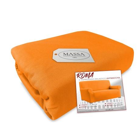 Copridivano elasticizzato arancio