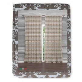 RIDEAU TYROLIEN BEIGE PULL cm.160x300 emballé MADE in ITALY lin