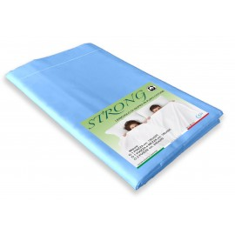 lenzuolo cordonetto di sopra azzurro in puro cotone