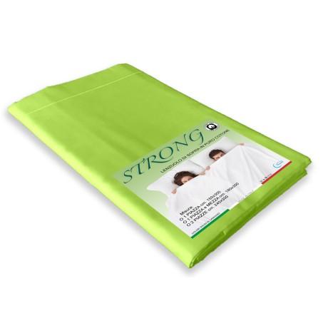 lenzuolo di sopra in puro cotone verde acido