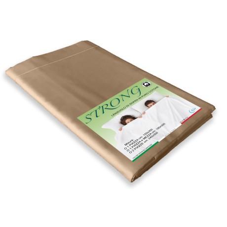 lenzuolo di sopra cordonetto nocciola in puro cotone