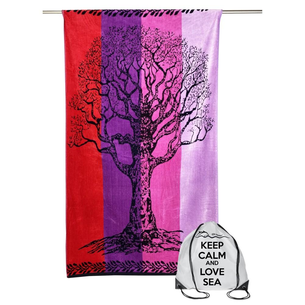 telo mare albero della vita sul rosso