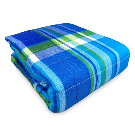 copriletto scozzese blu
