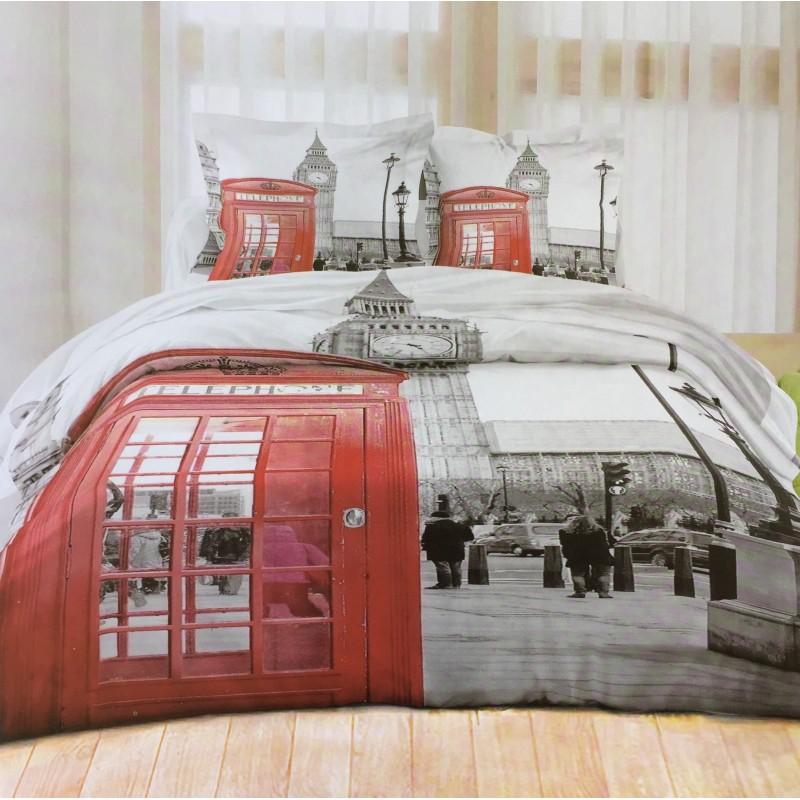 housse de couette london anglais stand big ben la. Black Bedroom Furniture Sets. Home Design Ideas