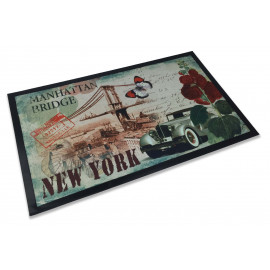 TAPPETO ZERBINO STEVEN NEW YORK MANHATTAN BRIDGE CM.45X75