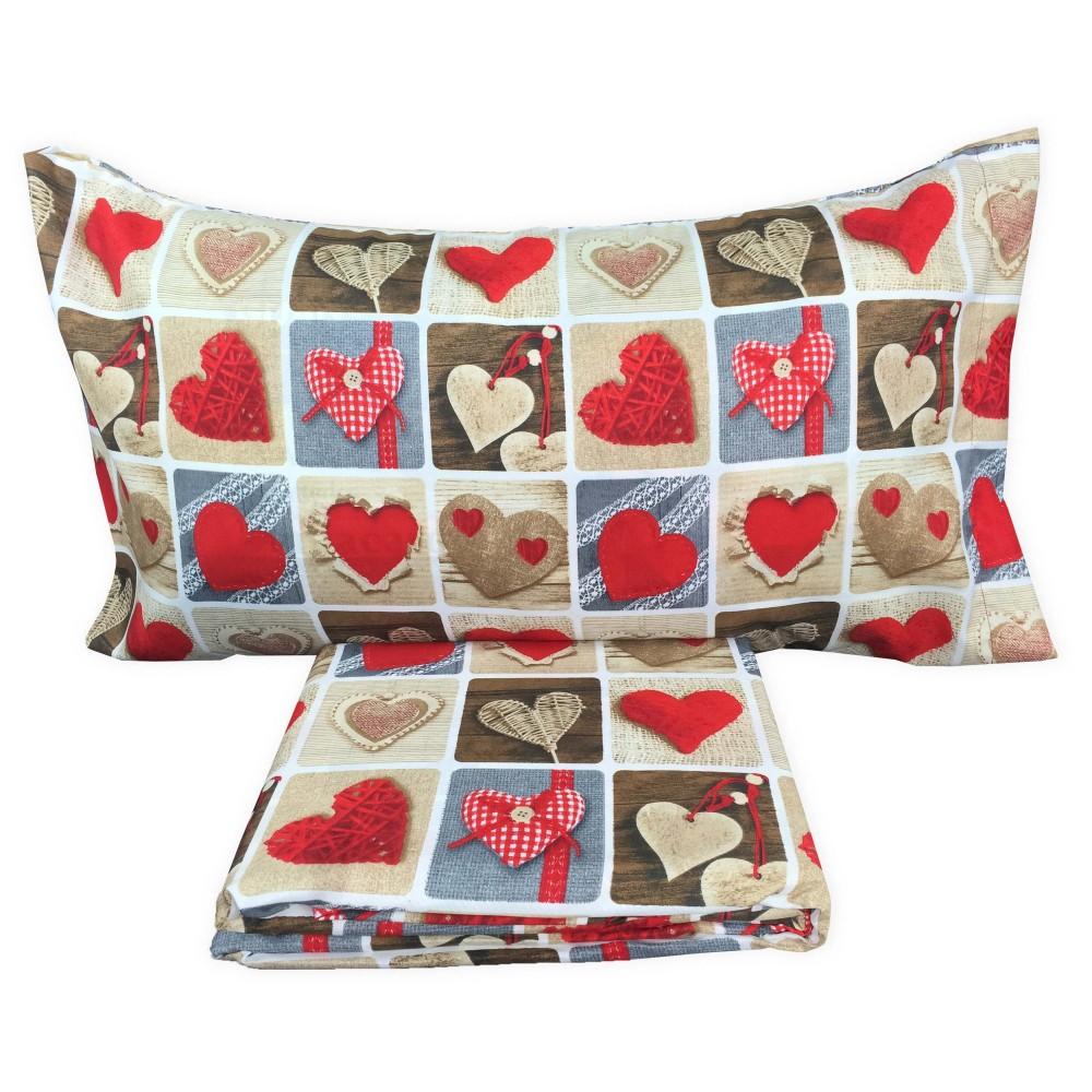 housse de couette coeur rouge el charro lit double 2 places la biancheria per la casa. Black Bedroom Furniture Sets. Home Design Ideas
