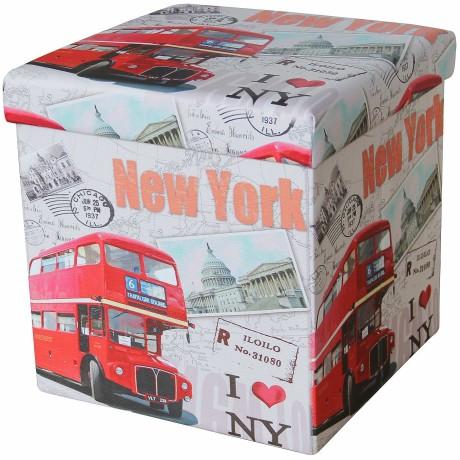 POUF CONTAINER REPOSE-PIEDS ALVIN I LOVE NEW YORK