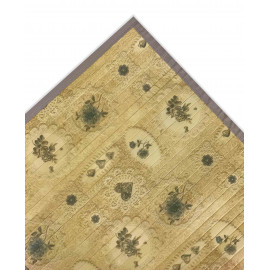 TAPPETO CUCINA IN LEGNO BAMBOO SHABBY BOUQUET BEIGE