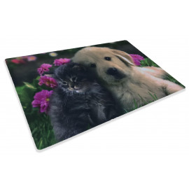 TAPPETO ZERBINO DIGITAL FRIENDS CM.40X60 CANE GATTO FIORE