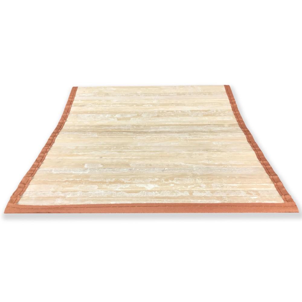 Tappeto cucina in legno bamboo arancio sfumato la - Tappeto cucina bamboo ...