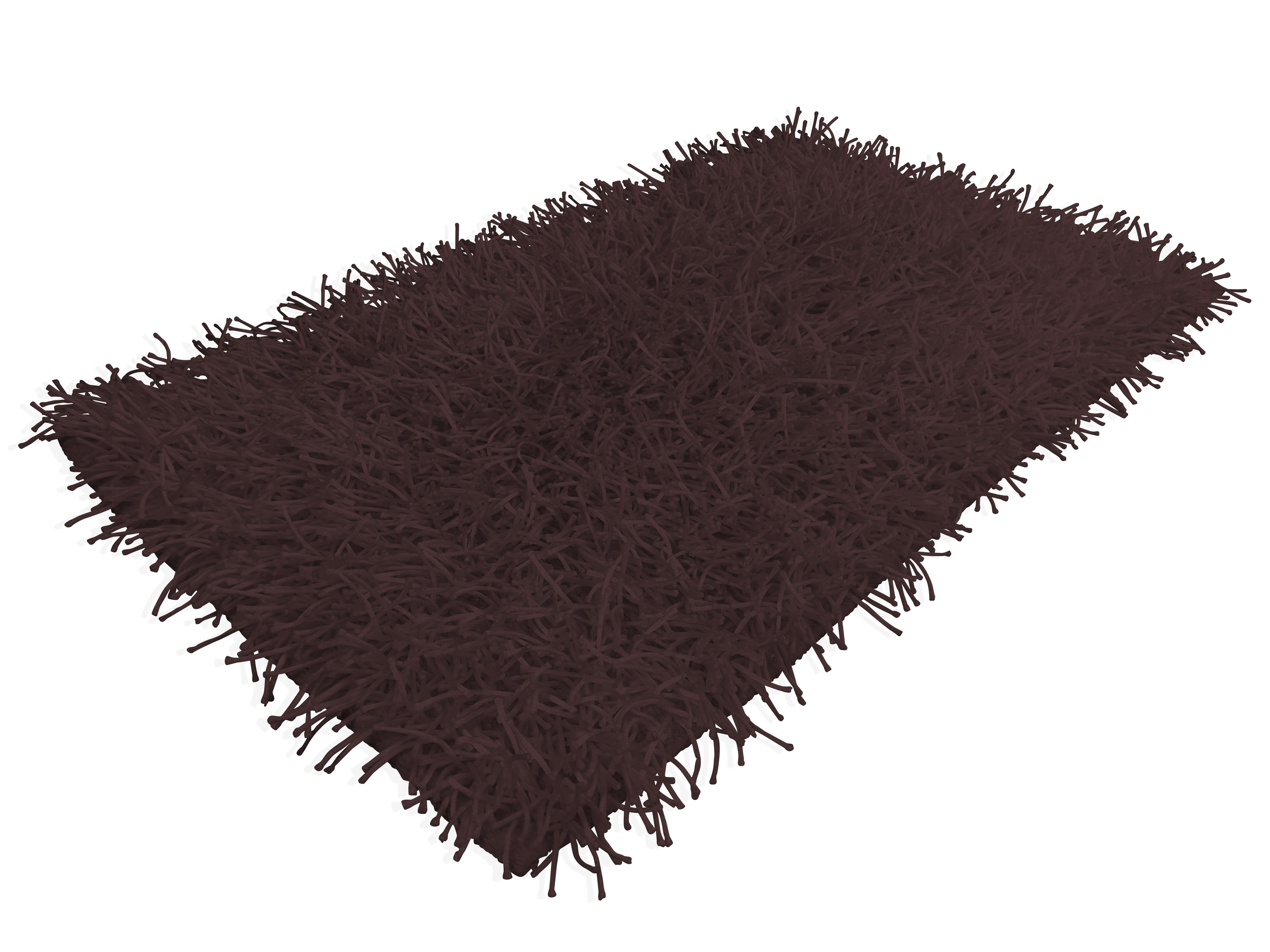 Tappeto shaggy marrone moderno tutte le misure