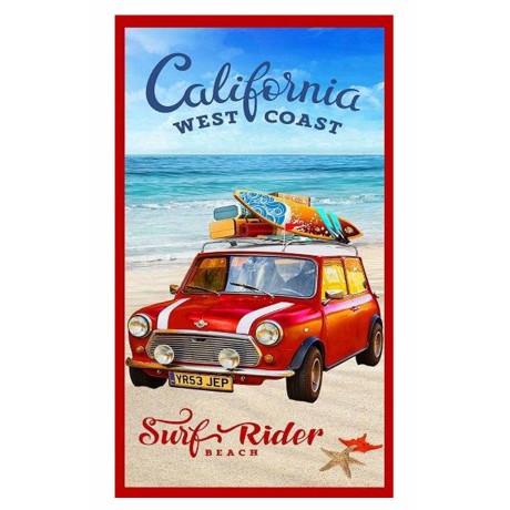 TELO MARE FOTOGRAFICO MINI CALIFORNIA HOLIDAY MISURA GRANDE CM.85x165 CAR