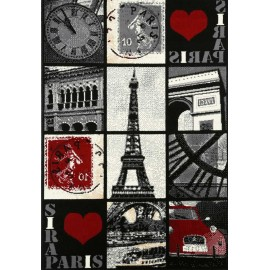 MODERNE TAPIS DES IMAGES DE PARIS, FRANCE CM. 120X170