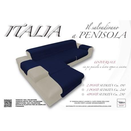 COPRIDIVANO ITALIA IL SALVADIVANO CON PENISOLA TRAPUNTATO UNITO BLU