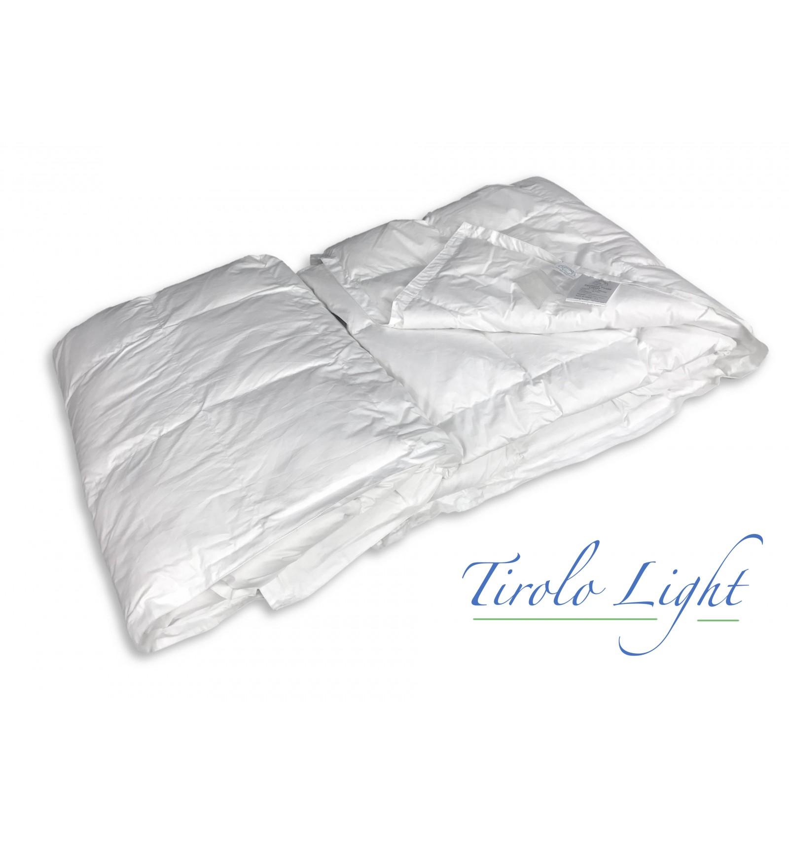 Piumino tirolo daunex in piuma d 39 oca estivo leggero indicato per la stagione pi calda - Piumino letto leggero ...