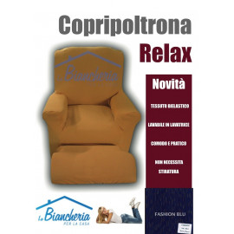 COPRIPOLTRONA RELAX FASHION BLU