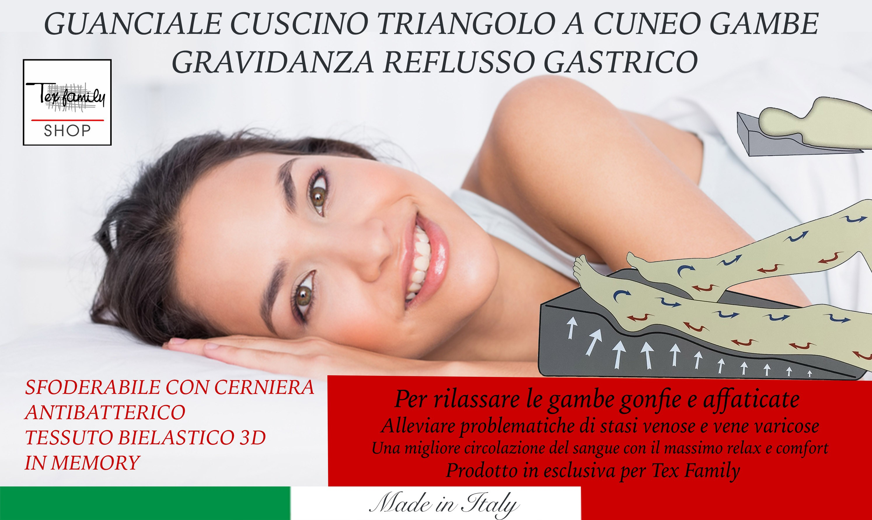 Cuscino Per Gambe Gonfie.Guanciale Cuscino Triangolo A Cuneo Gambe Gravidanza Reflusso Gastrico