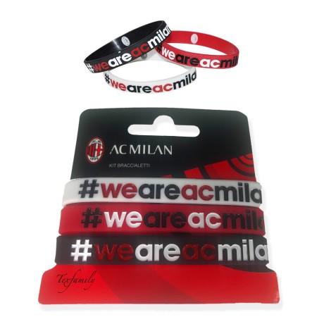 SET 3 BRACCIALETTI UFFICIALI A.C. MILAN