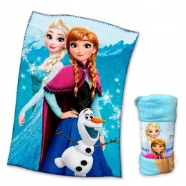 PLAID COPERTA IN PILE DISNEY FROZEN cm. 100 x 150 v. blu