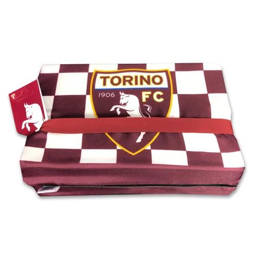 CUSCINO DA STADIO UFFICIALE TORINO FC CALCIO ORIGINALE TORO e cartolina TORINO È