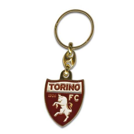 PORTACHIAVI IN METALLO SMALTATO TORINO CALCIO FC e cartolina TORINO È