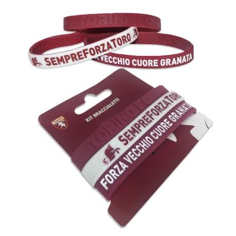 SET 3 BRACCIALETTI UFFICIALI TORINO FC