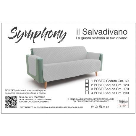 NUOVO COPRIDIVANO GR SALVADIVANO SYMPHONY TRAPUNTATO GRIGIO