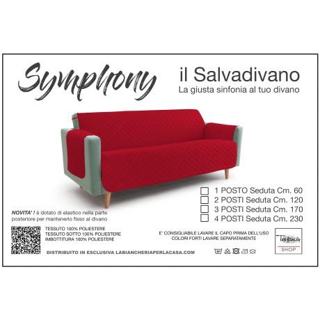COPRIDIVANO BX SALVADIVANO SYMPHONY TRAPUNTATO ROSSO-BORDEAUX