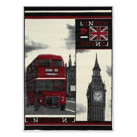 TAPIS MODERNE DE LONDRES ANGLAIS DE BUS ET DE BIG BEN CM. 120X170