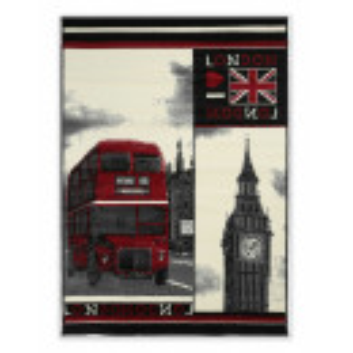 TAPPETO MODERNO LONDRA INGLESE BUS E BIG BEN CM. 120X170