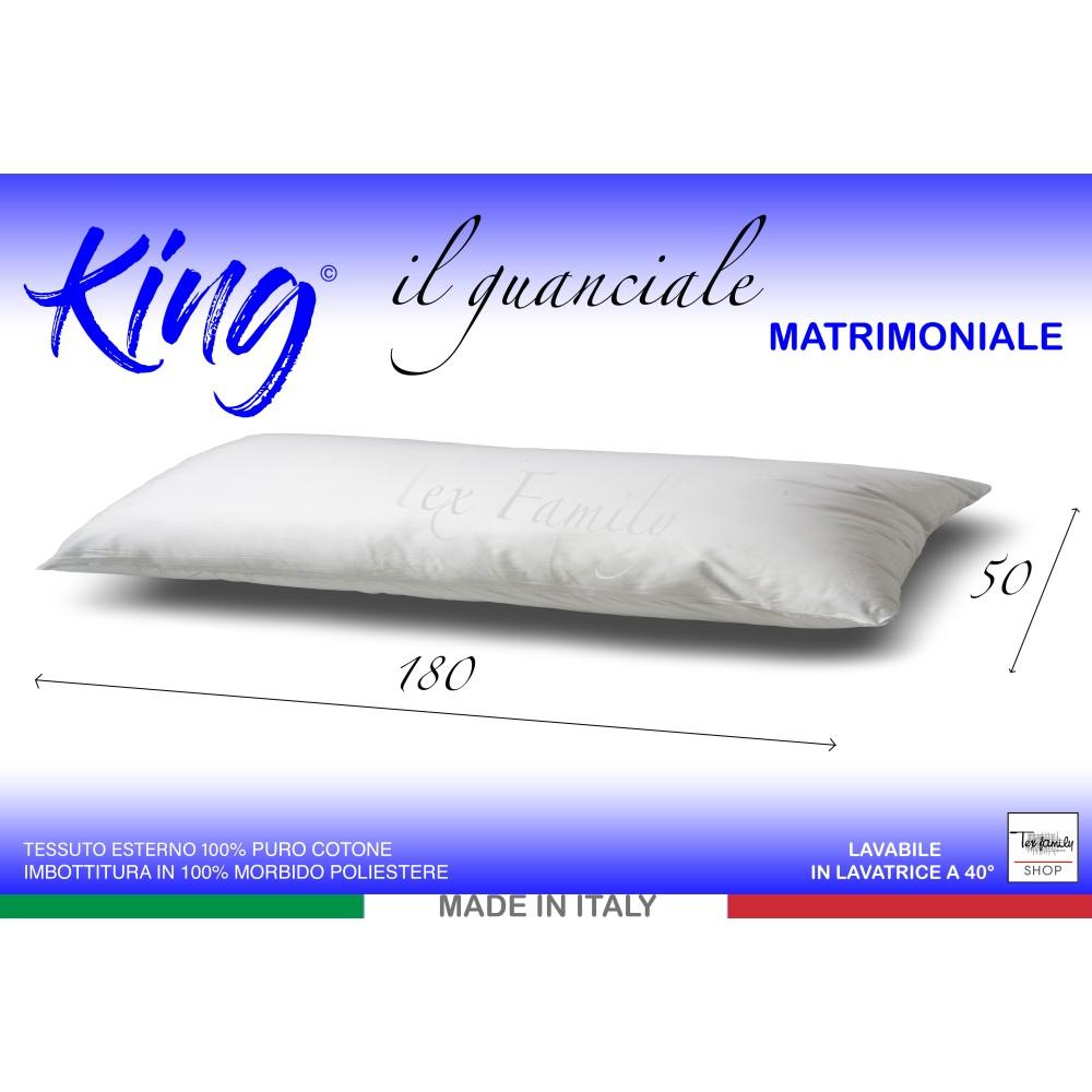 Cuscini Lunghi Letto.Guanciale King Lungo Cm 180 Ideale Per I Letti Matrimoniali