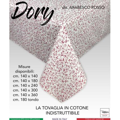 TOVAGLIA IN COTONE DORY ARABESCO ROSSO