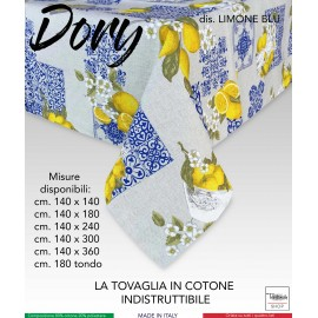 TOVAGLIA DORY SORRENTO LIMONE LIMONI BLU