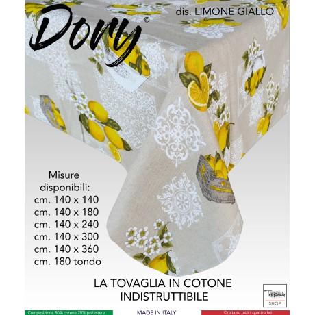 TOVAGLIA DORY SORRENTO LIMONE LIMONI GIALLO