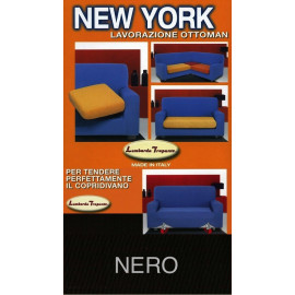 COPRIDIVANO NEW YORK  NERO made in Italy