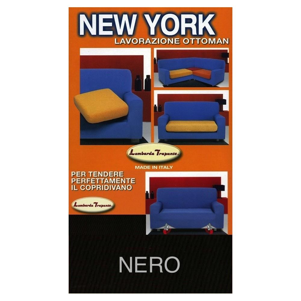 COPRIDIVANO NEW YORK  NERO made in Italy