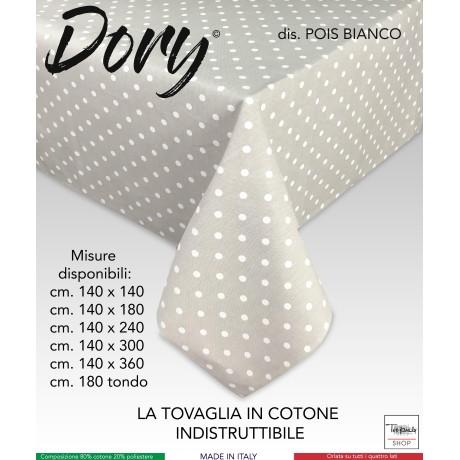 TOVAGLIA DORY DISEGNO POIS BIANCHI